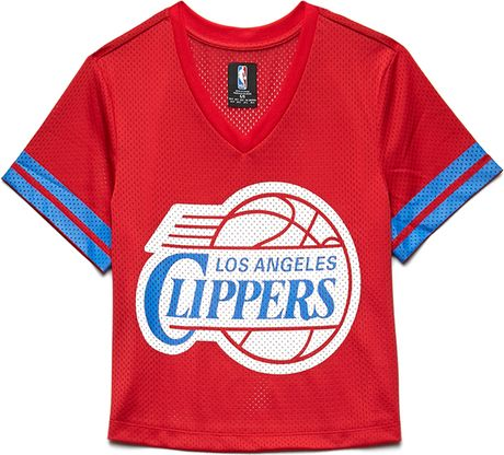 Forever 21 Los Angeles Clippers Jersey Top in Blue (Red/blue)