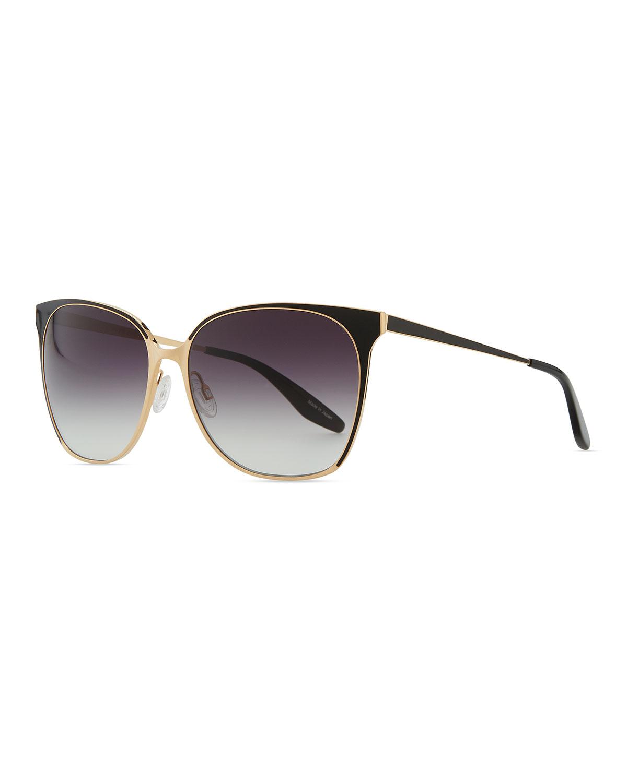90a616b553 Barton Perreira Universal Fit Edie Metal enamel Sunglasses in Black ...