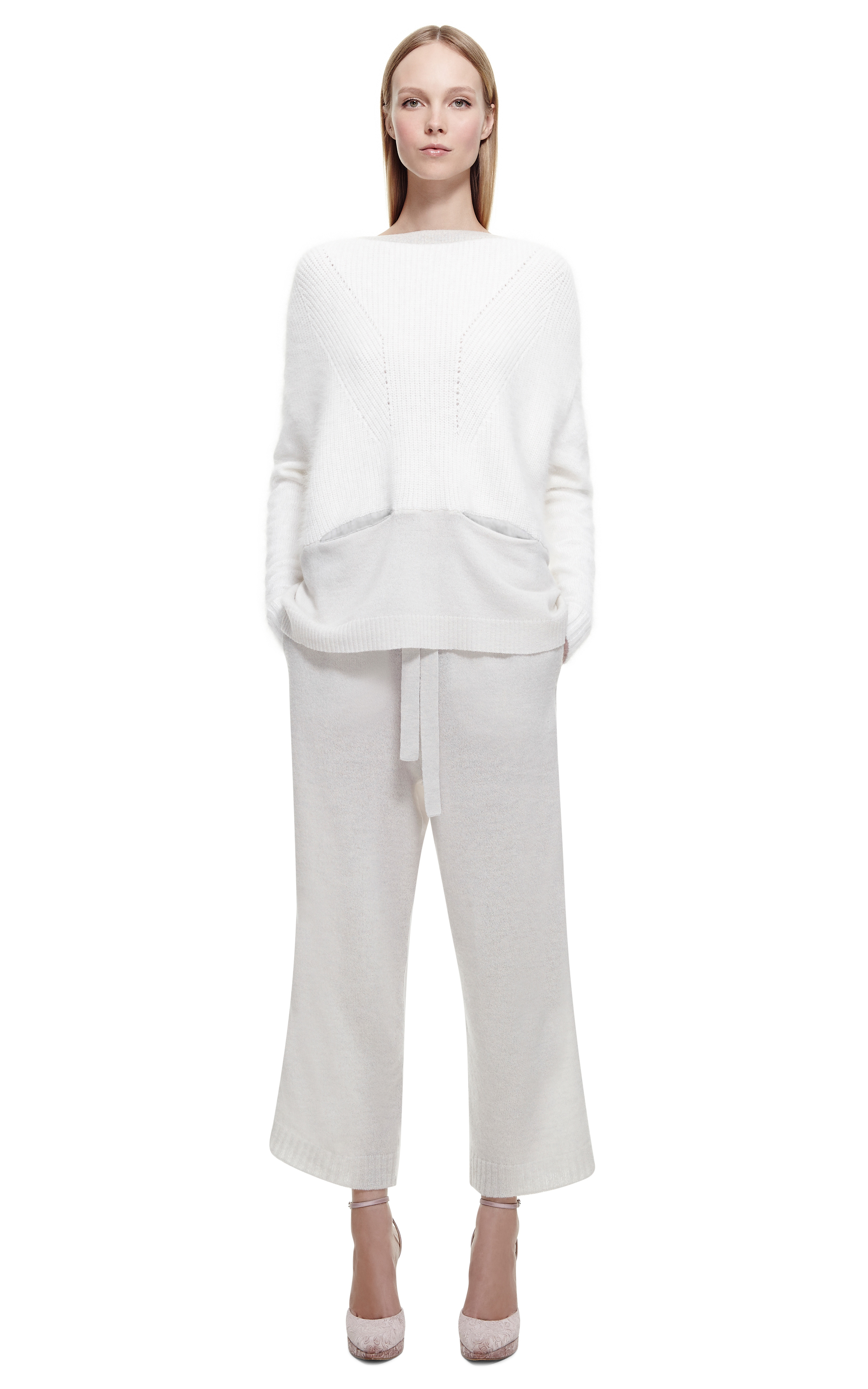 Lyst Nina Ricci Cashmere Knitted Pyjama Pant In White