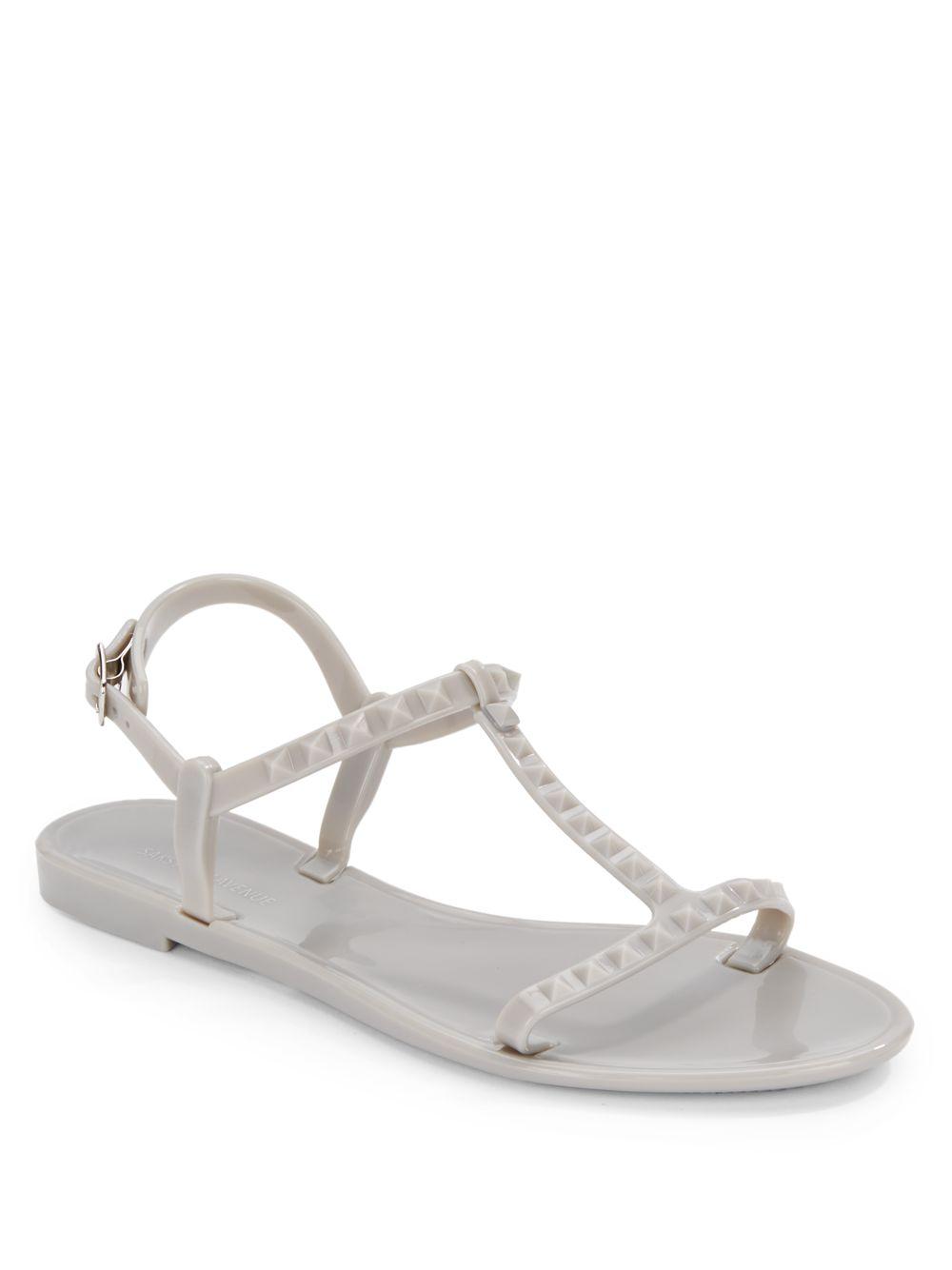 Saks Fifth Avenue Studded T-Strap Sandals big sale cheap online cheap sale marketable 5WXhAPx