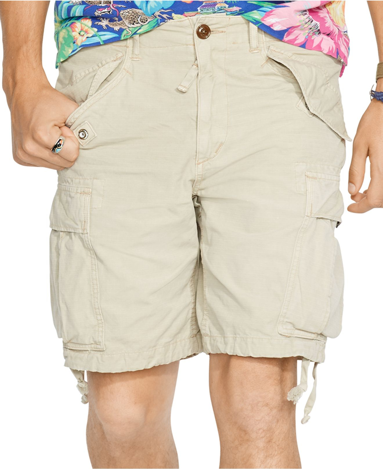 d96b4843ae ... coupon code lyst polo ralph lauren relaxed fit ripstop cargo shorts in  natural 5d359 0c0c5