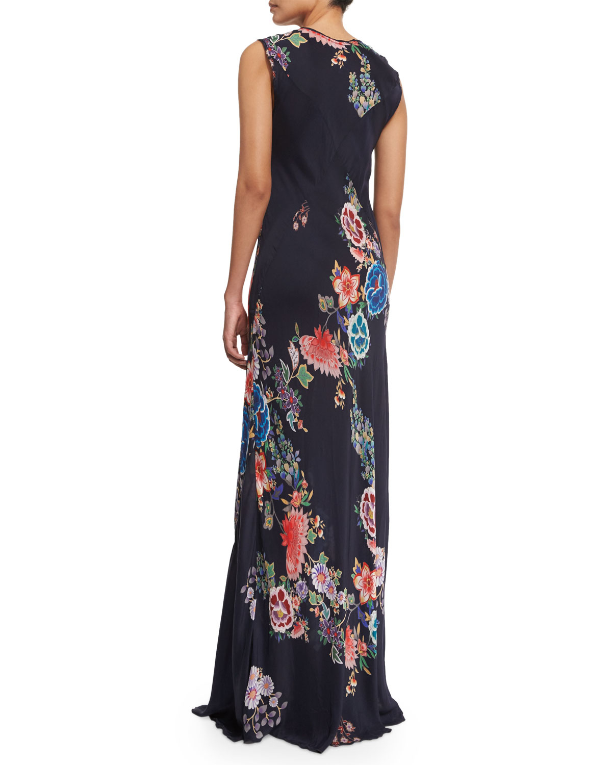 Lyst - Johnny Was Augustine Sleeveless Floral-print Maxi Dress