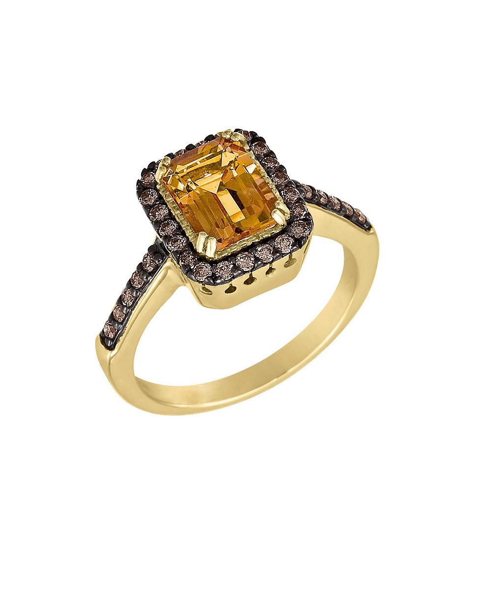 Le Vian Citrine And Chocolate Diamond Ring