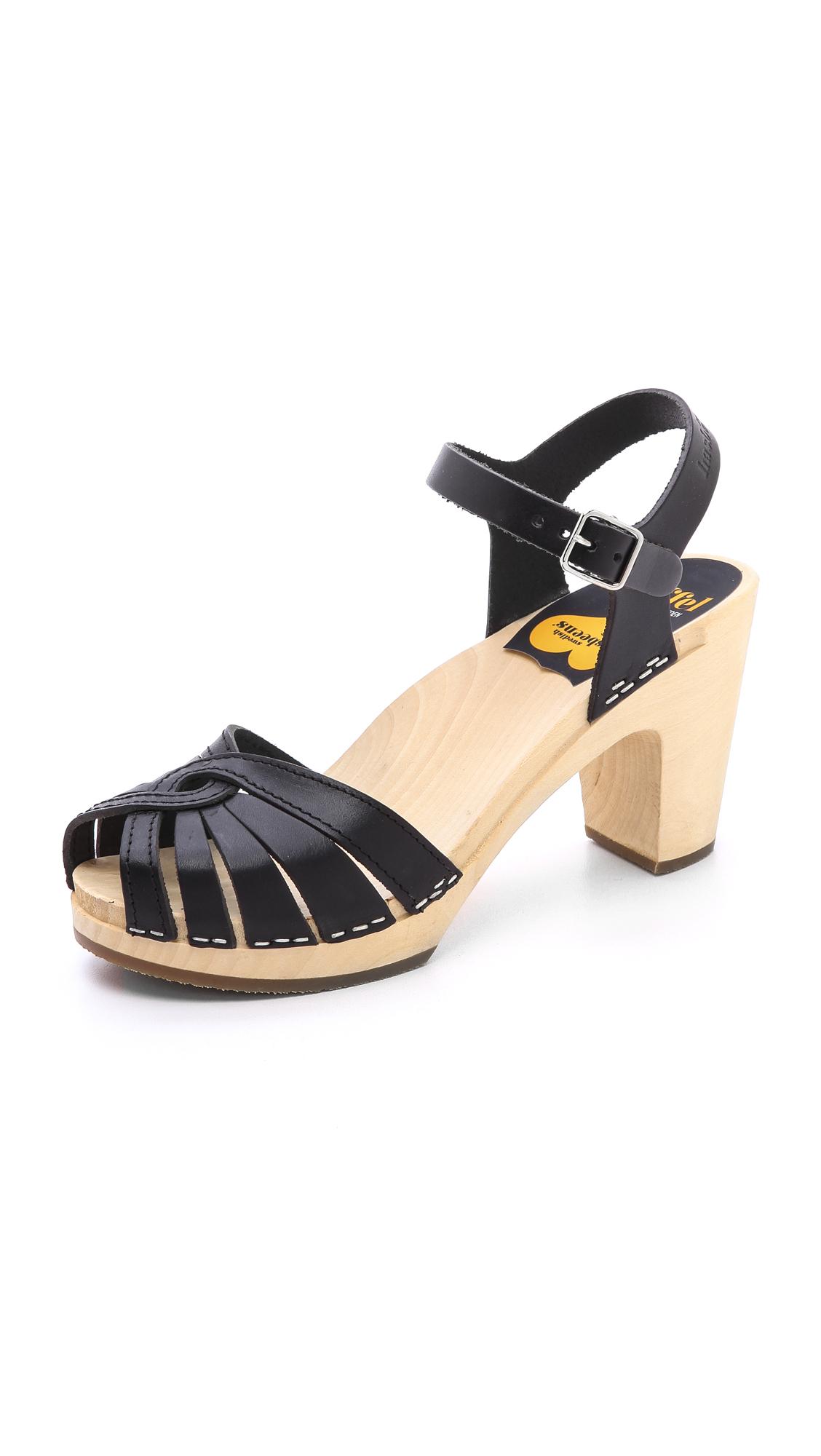 Lyst Swedish Hasbeens Huarache High Sandals In Black