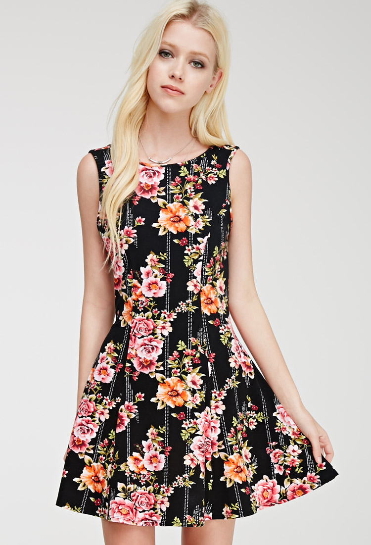 Forever 21 Fluted Floral Print Dress You've Been Added To ...