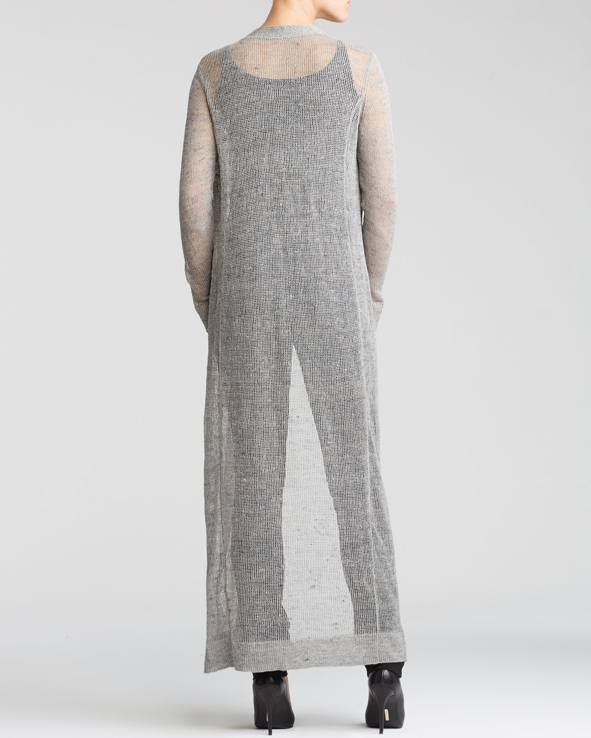 76ebbbe55d Eileen Fisher Maxi Cardigan - The Fisher Project in Gray - Lyst