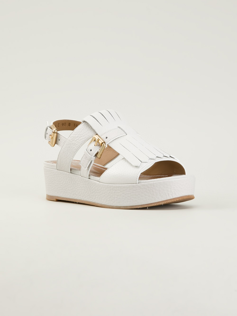 Santoni Platform Sandals In White Lyst