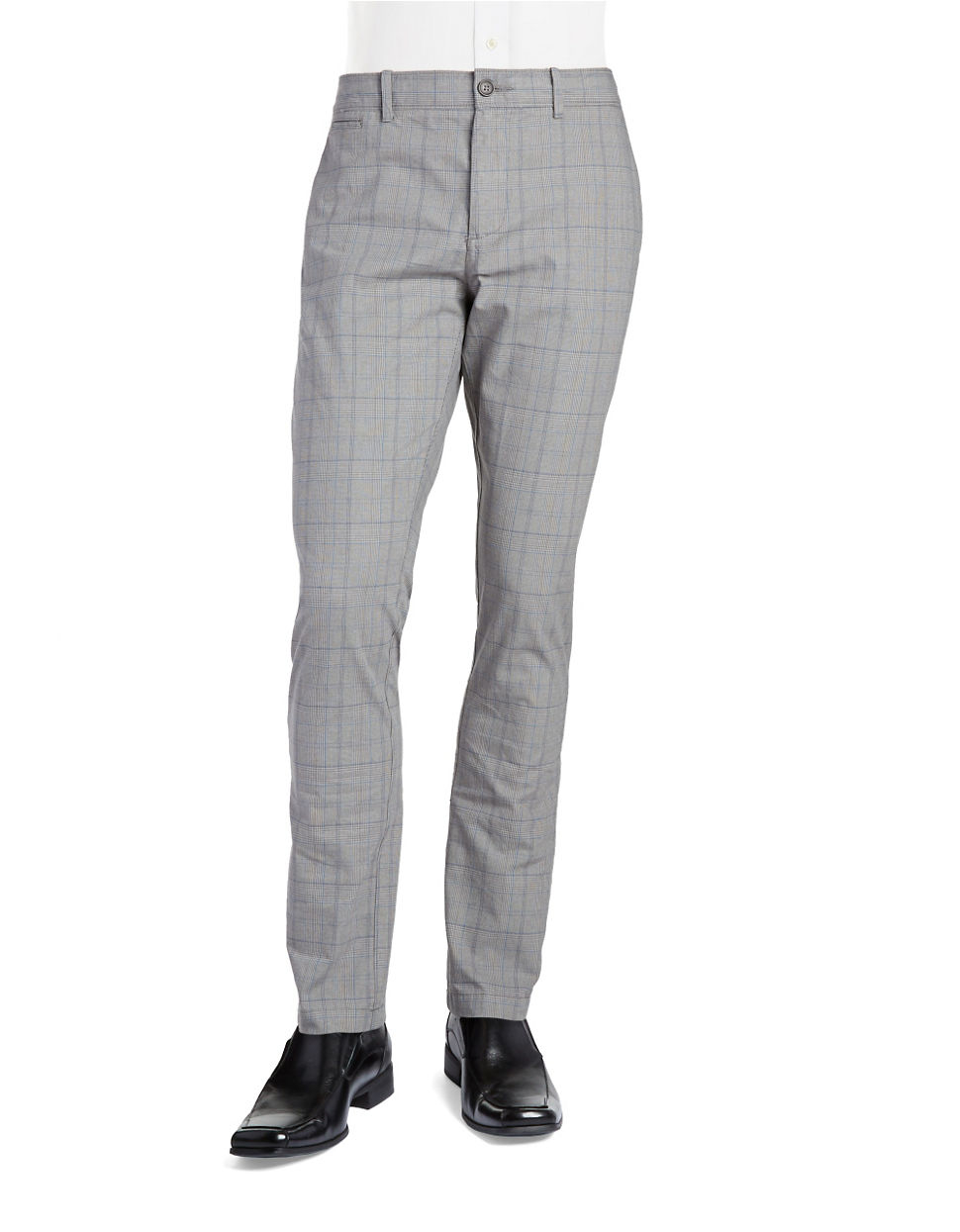 Original penguin Plaid Chino Pants in Gray for Men | Lyst