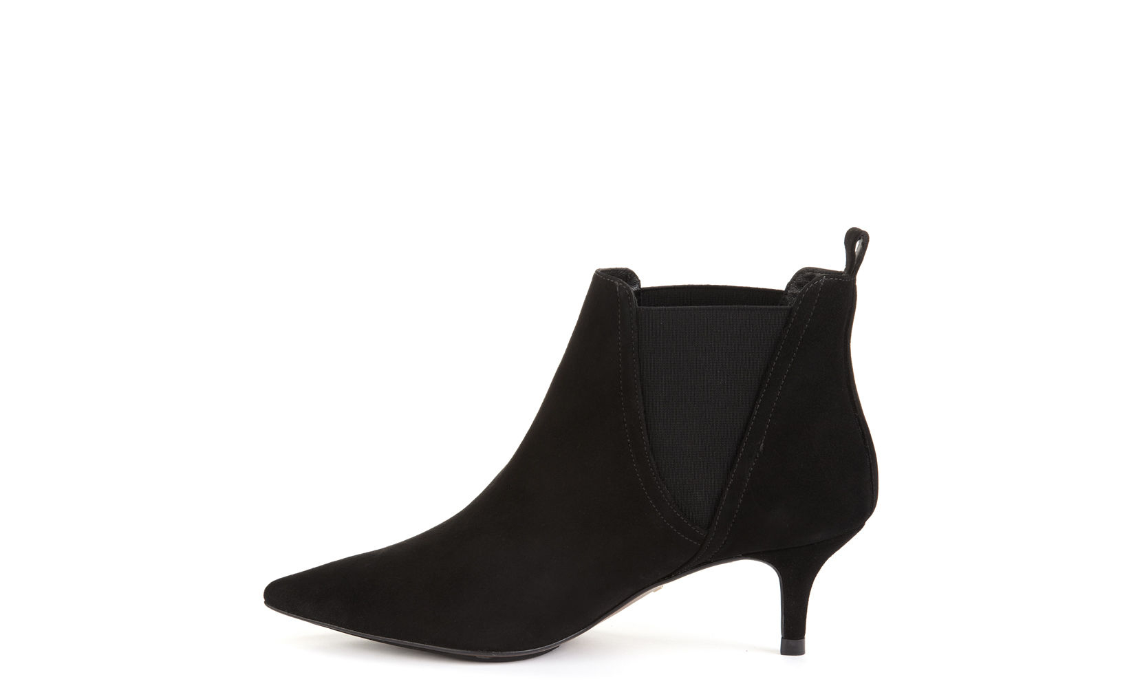 Black Suede Boots Kitten Heel - Is Heel