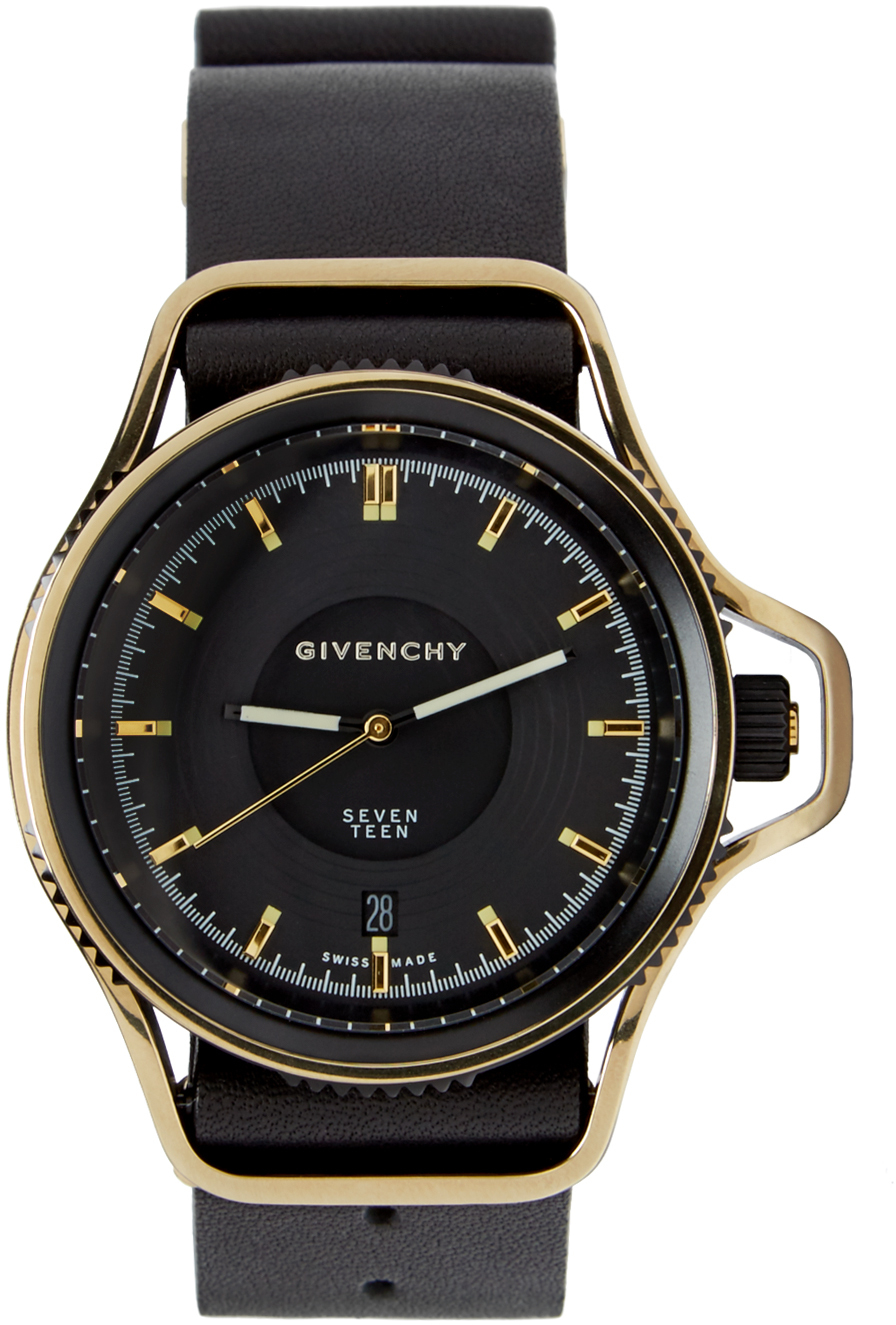 Givenchy black and gold seventeen watch in gold for men black lyst for Givenchy watches