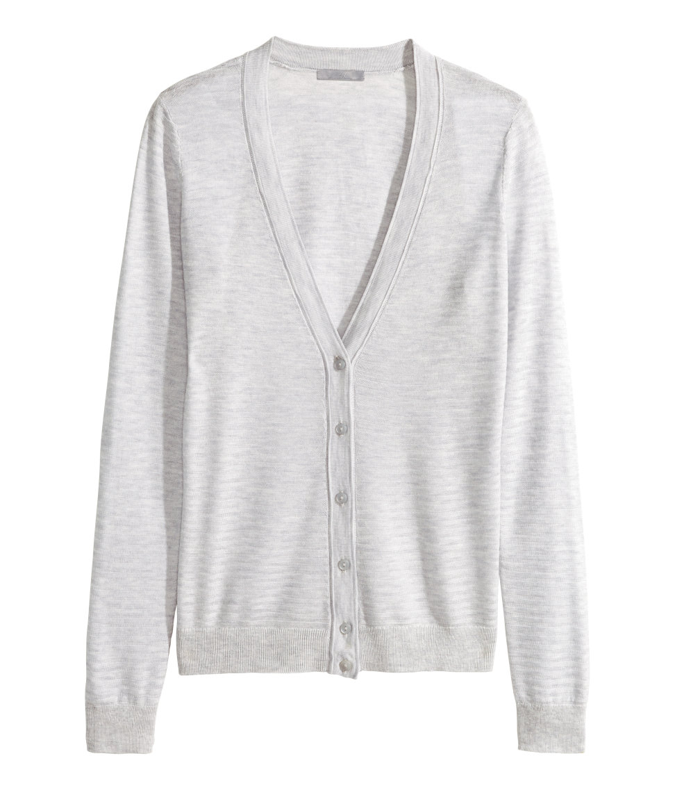 H&m Cardigan In A Lyocell Blend in Gray | Lyst