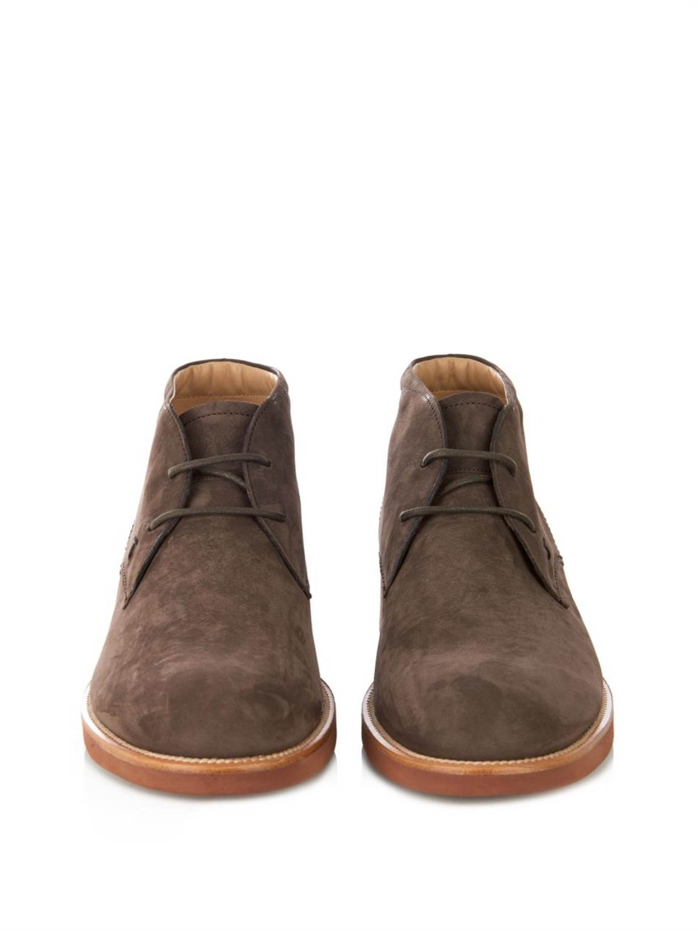 Tod S Suede Desert Boots In Brown For Men Lyst