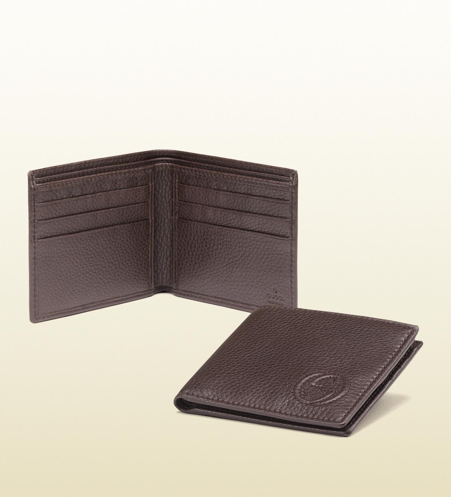 Gucci Soho Leather Bi-fold Wallet in Brown for Men | Lyst