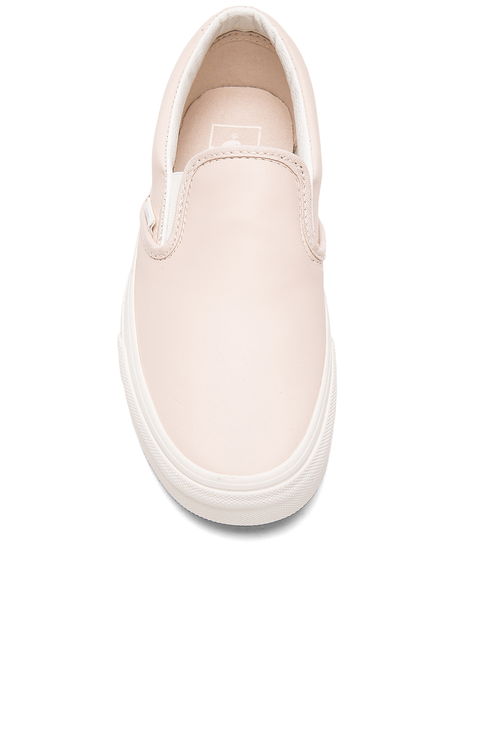 53eb60f63013 Lyst - Vans Leather Classic Slip-on in Pink