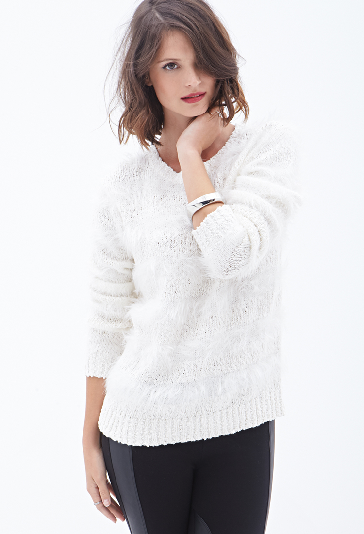 Lyst Forever 21 Contemporary Feather Knit Striped
