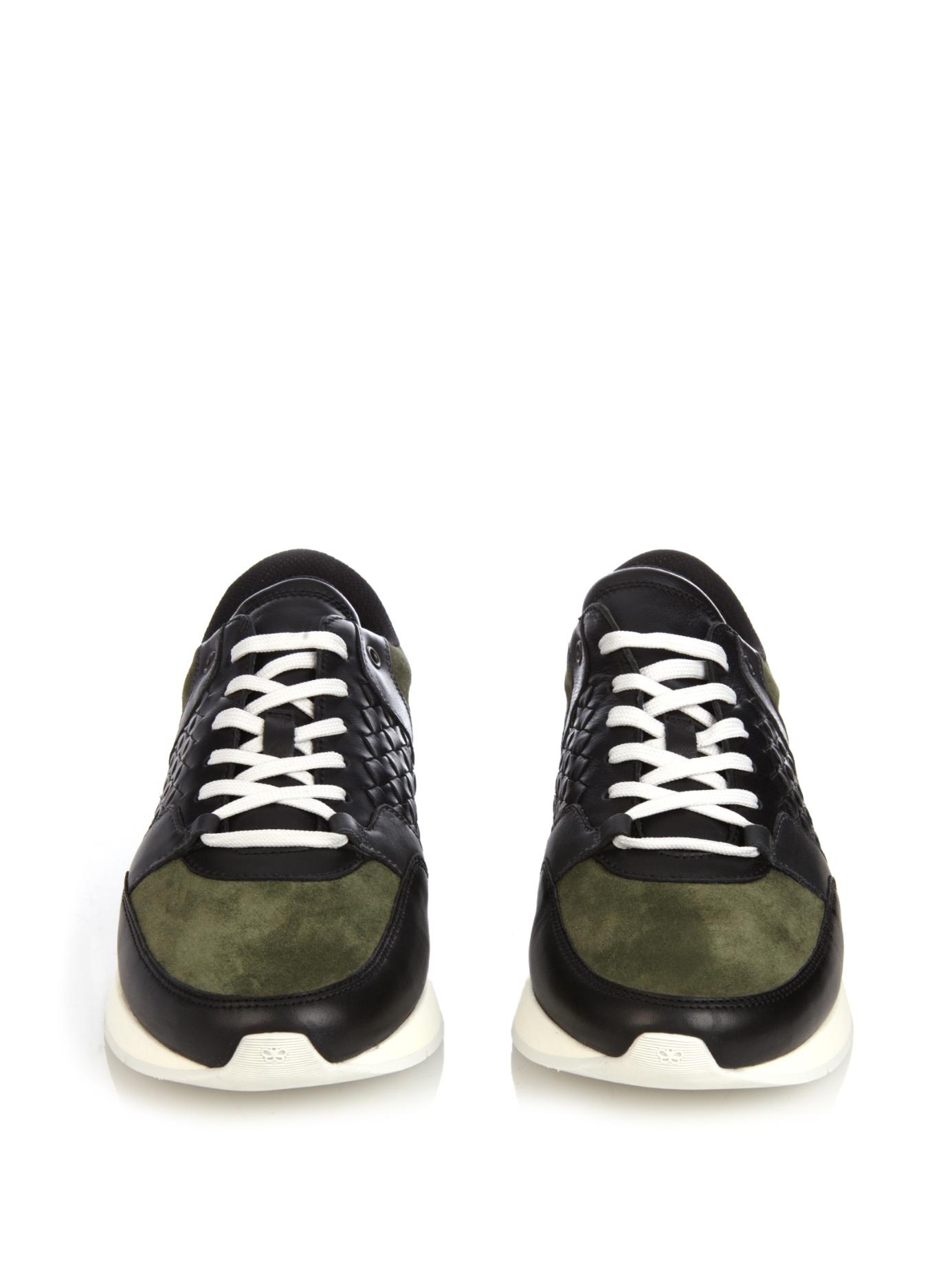 Bottega Veneta Green Suede Shoes Men