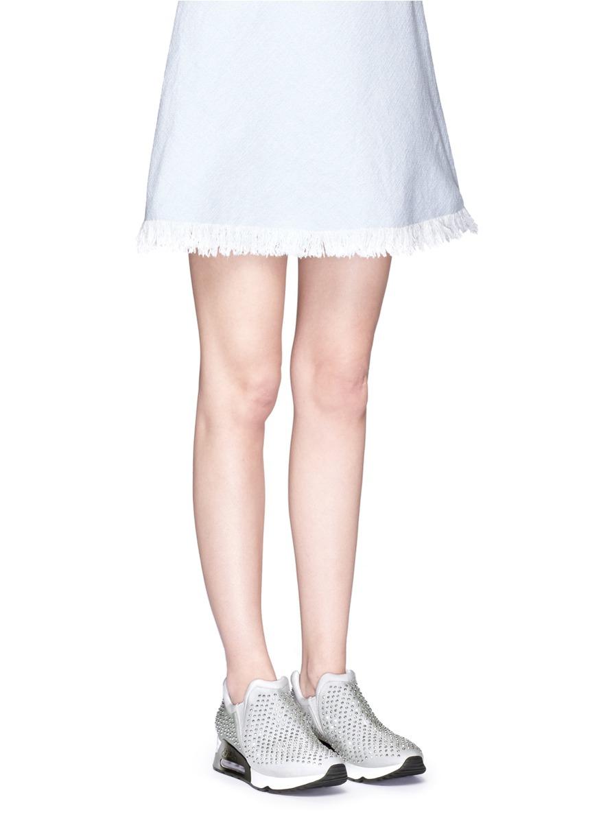 cc3b4986037f1 Lyst - Ash  lunare  Crystal Embellished Neoprene Slip-on Sneakers in ...