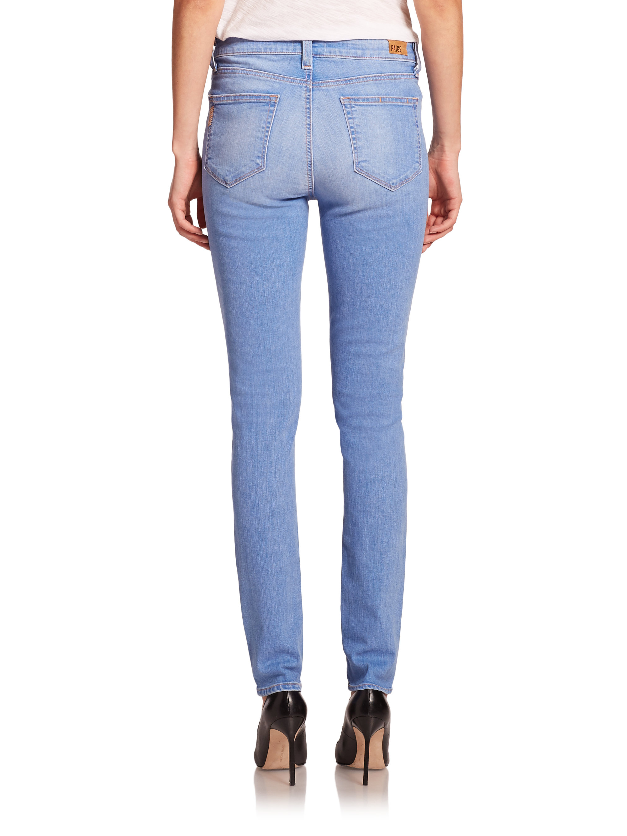 Paige hoxton high waisted skinny ankle jeans – Global fashion ...