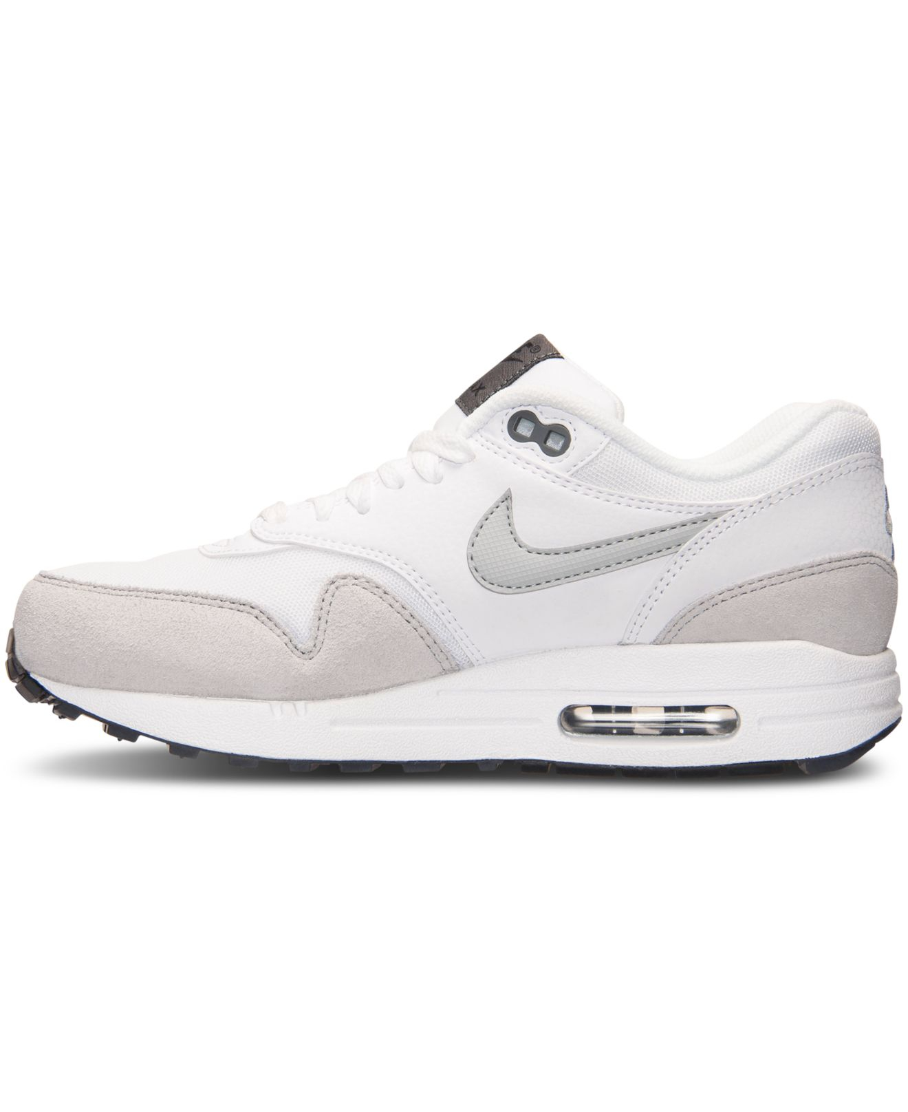 finest selection 02013 b42e2 ... usa lyst nike womens air max 1 essential running sneakers from finish  line in white 78d7d