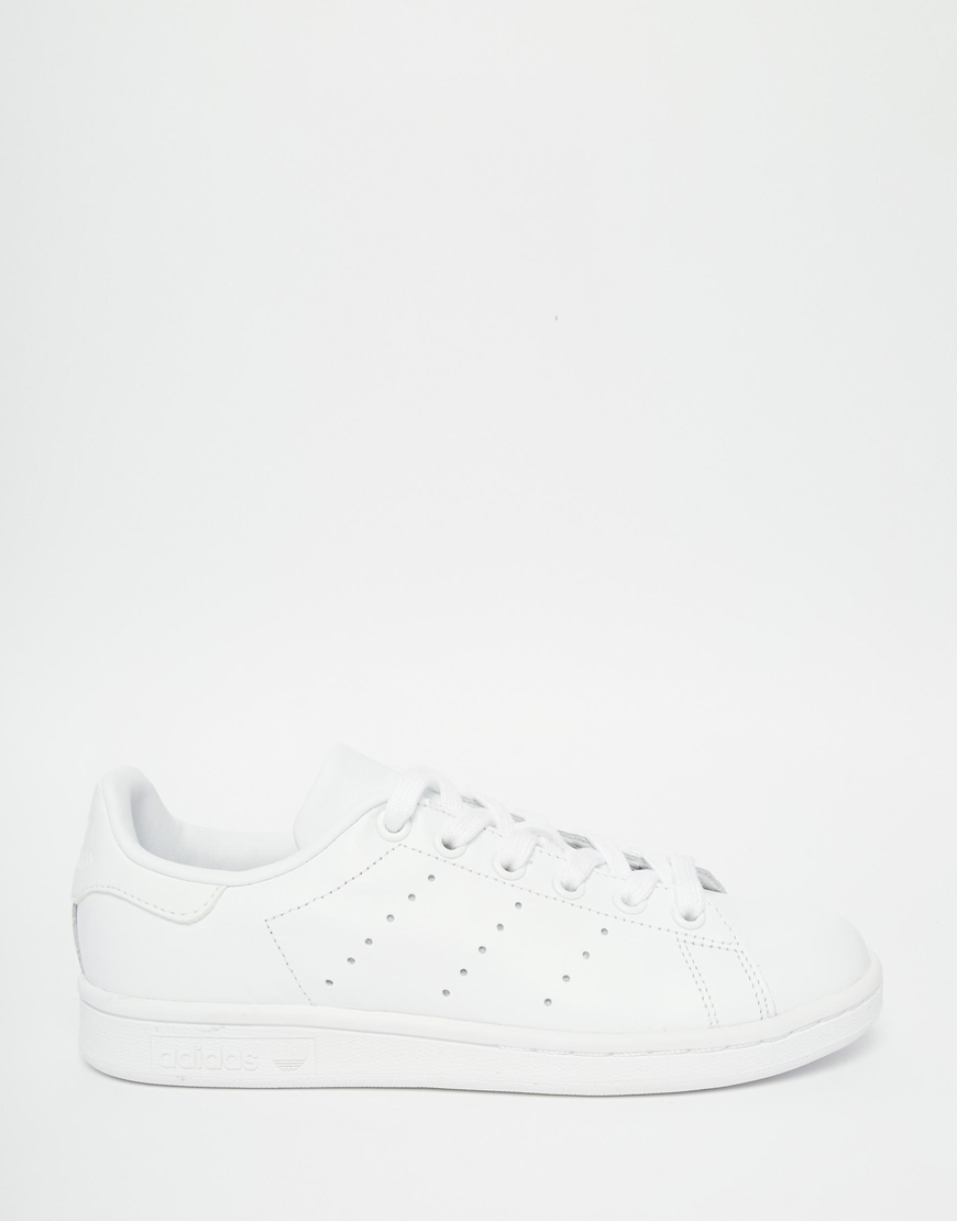 6c85752b0d78 Lyst - adidas Originals Originals Triple White Stan Smith Trainers ...