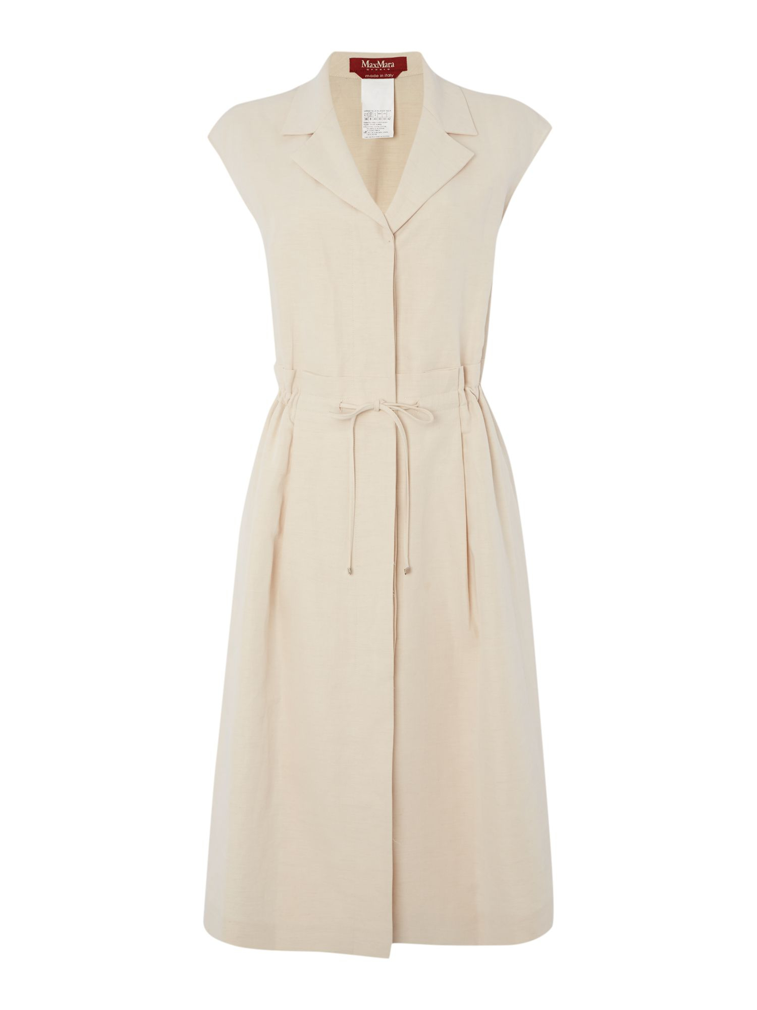Max mara fabio linen shirt dress in white lyst for White linen dress shirt