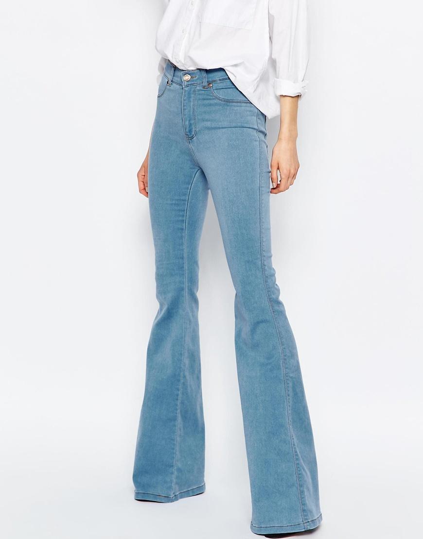 Dr. denim Brigitte High Waist Skinny Flare Jeans in Orange | Lyst