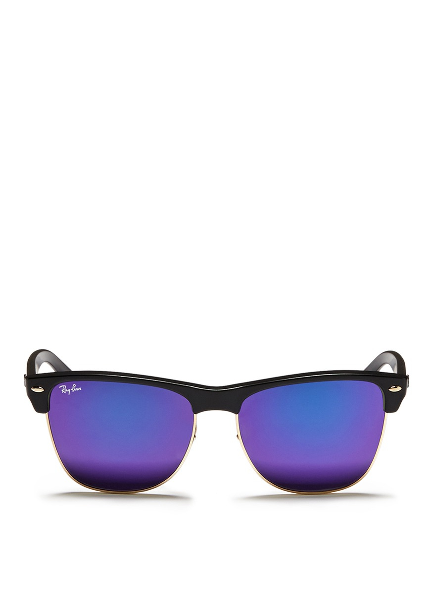 Ray Ban Clubmaster Oversized Matte Plastic Browline