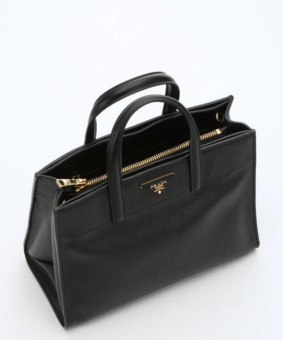 c19ef9941c Prada Black Saffiano Leather Convertible Tote in Black