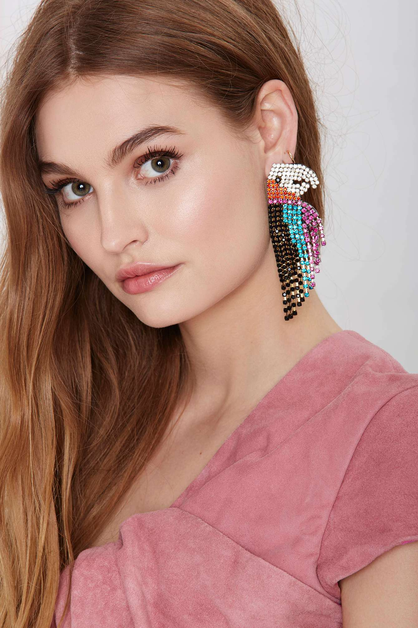 Lyst Nasty Gal Melody Ehsani See Me Parrot Earrings Adapt Blush Elizabeth Cole