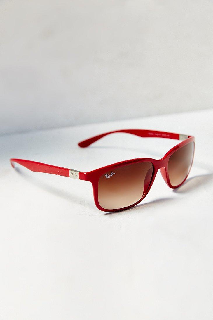red wayfarer sunglasses uqw9  Gallery