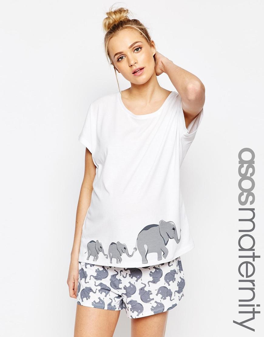 5c1ef1bccf725 ASOS Elephant Print T-shirt & Short Pyjama Set - Lyst