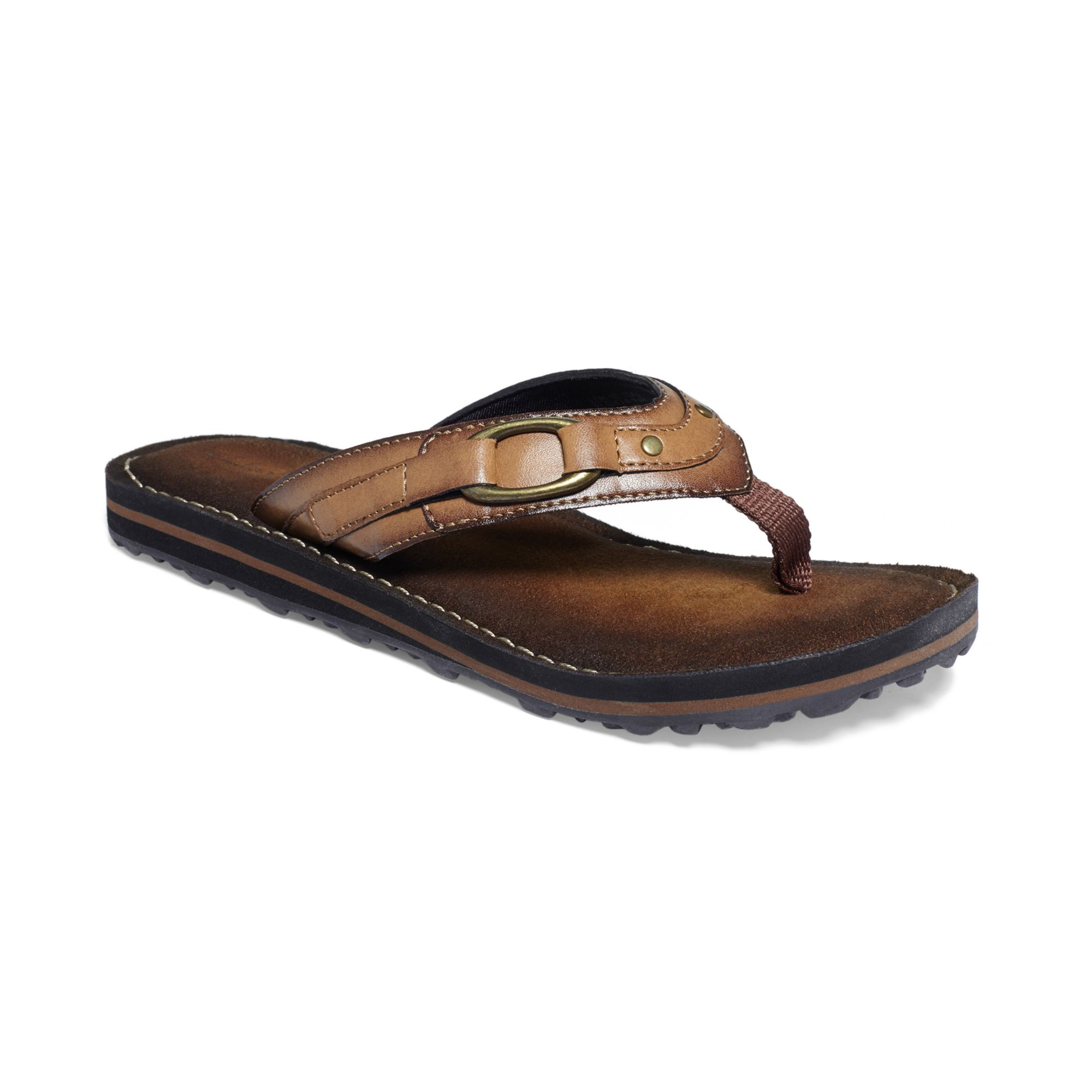 Clarks Womens Flip Abby Flip Flops in Brown (Honey)