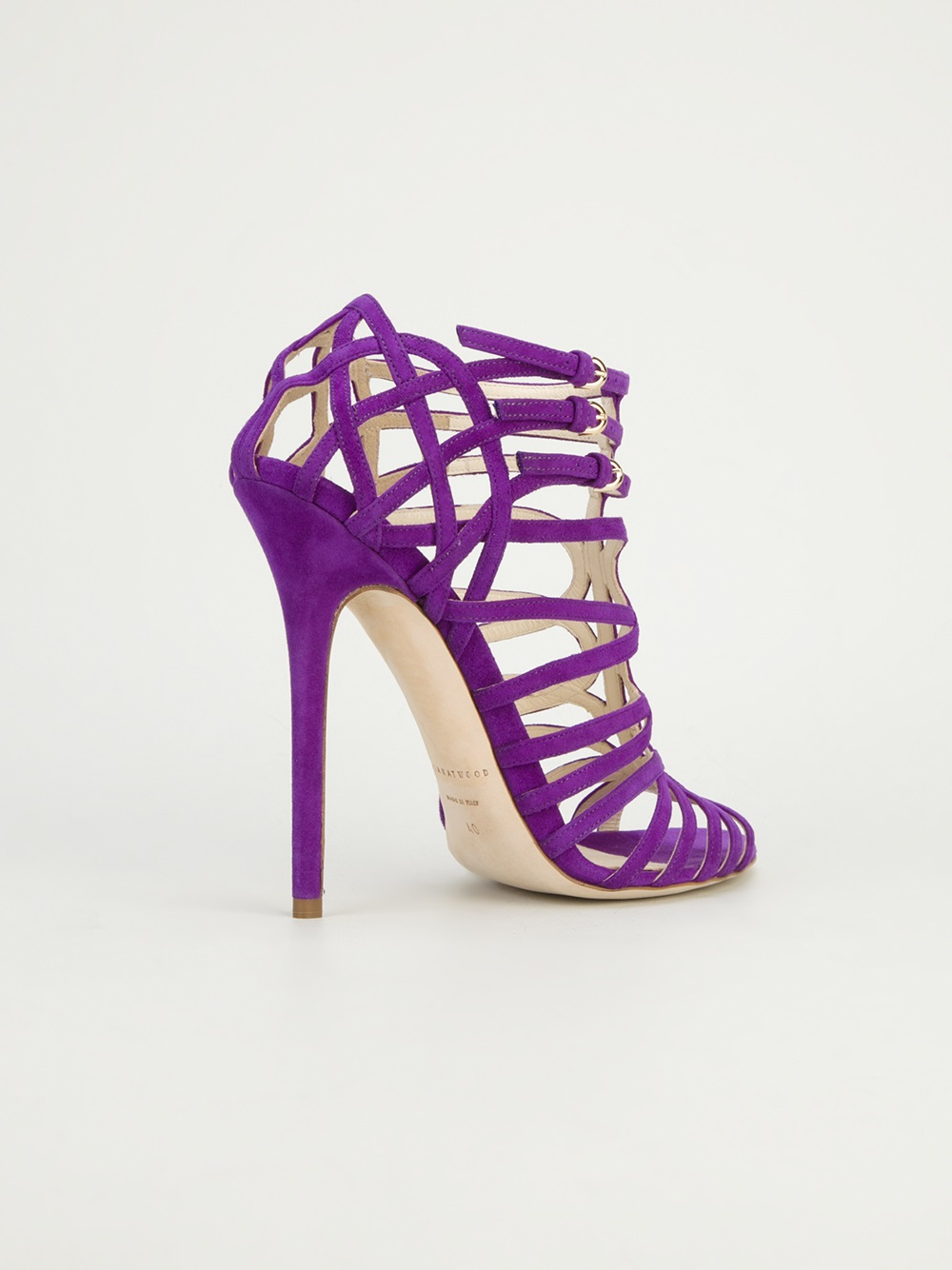Brian Atwood Clarissa Strappy Sandal In Pink Amp Purple