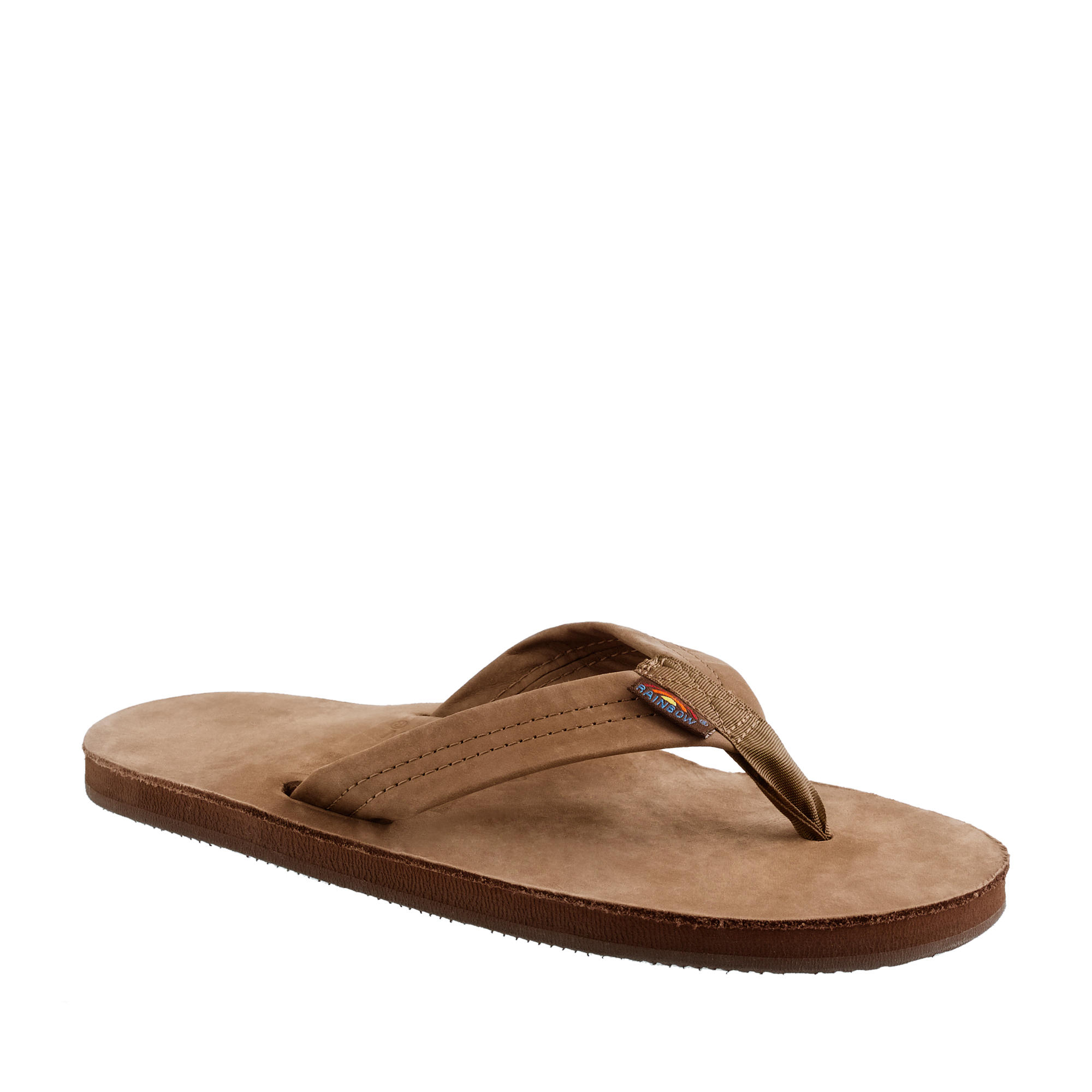 J.crew Rainbow Leather Flip-flops in Brown for Men | Lyst Rainbow Sandals