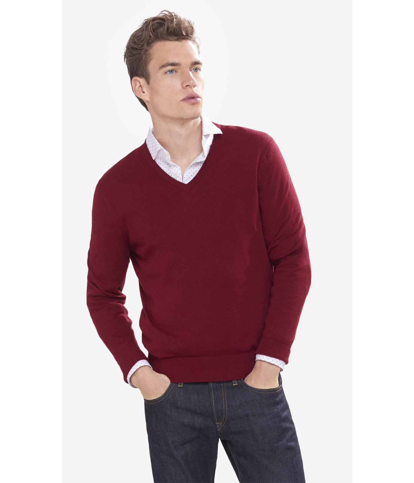 Build up your wardrobe with a versatile and effortlessly stylish v-neck sweater for men. Men's v-neck sweaters from Banana Republic instantly add professional appeal.
