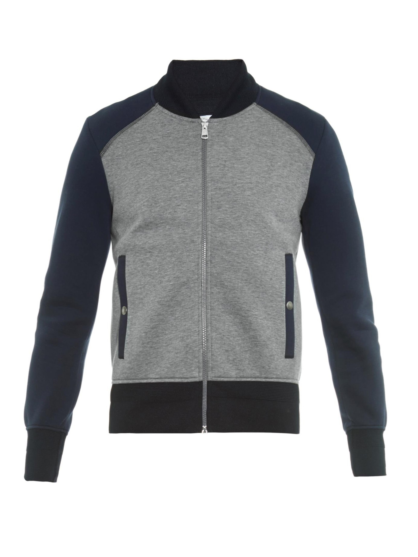 moncler grey bomber jacket