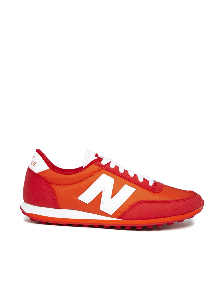 Lyst - New Balance Orange 410 Sneakers in Red
