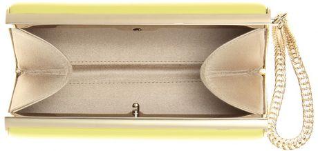4e04cb8412d4 Jimmy Choo Carmen Patentleather Clutch in Yellow (lemon .