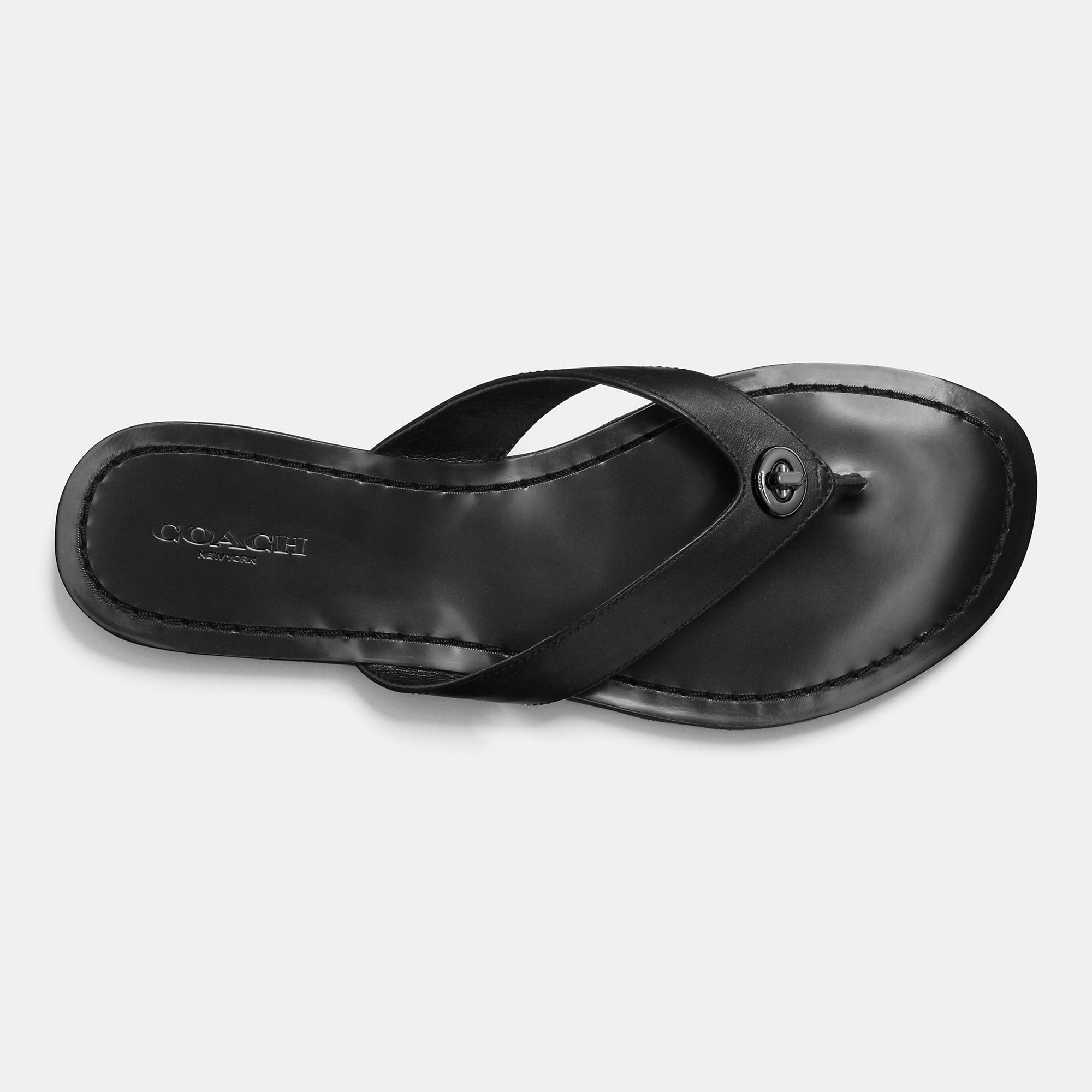145344075026 Lyst - COACH Shelly Sandal in Black