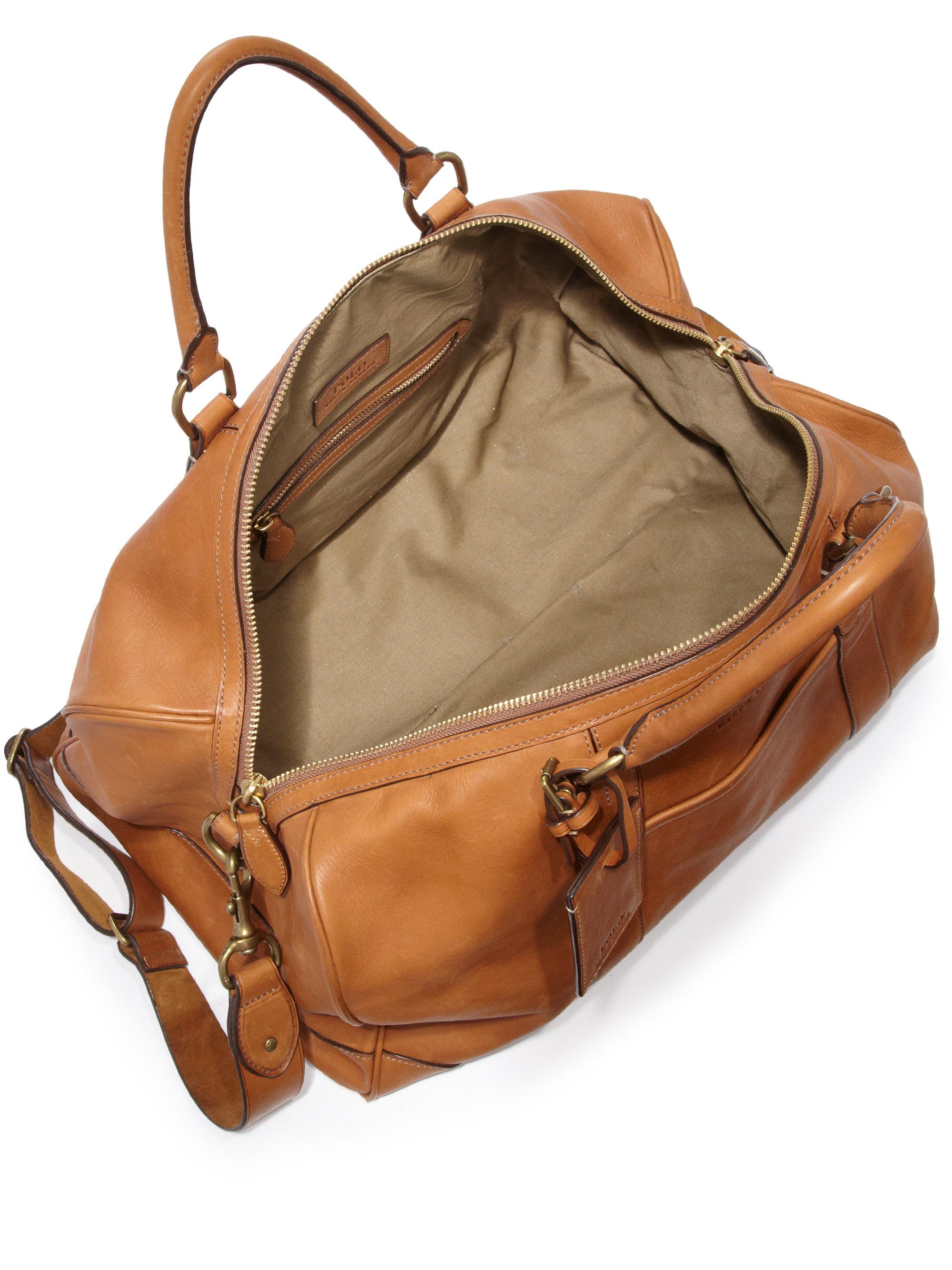 Polo Ralph Lauren | Brown Leather Duffel Bag for Men | Lyst. View Fullscreen