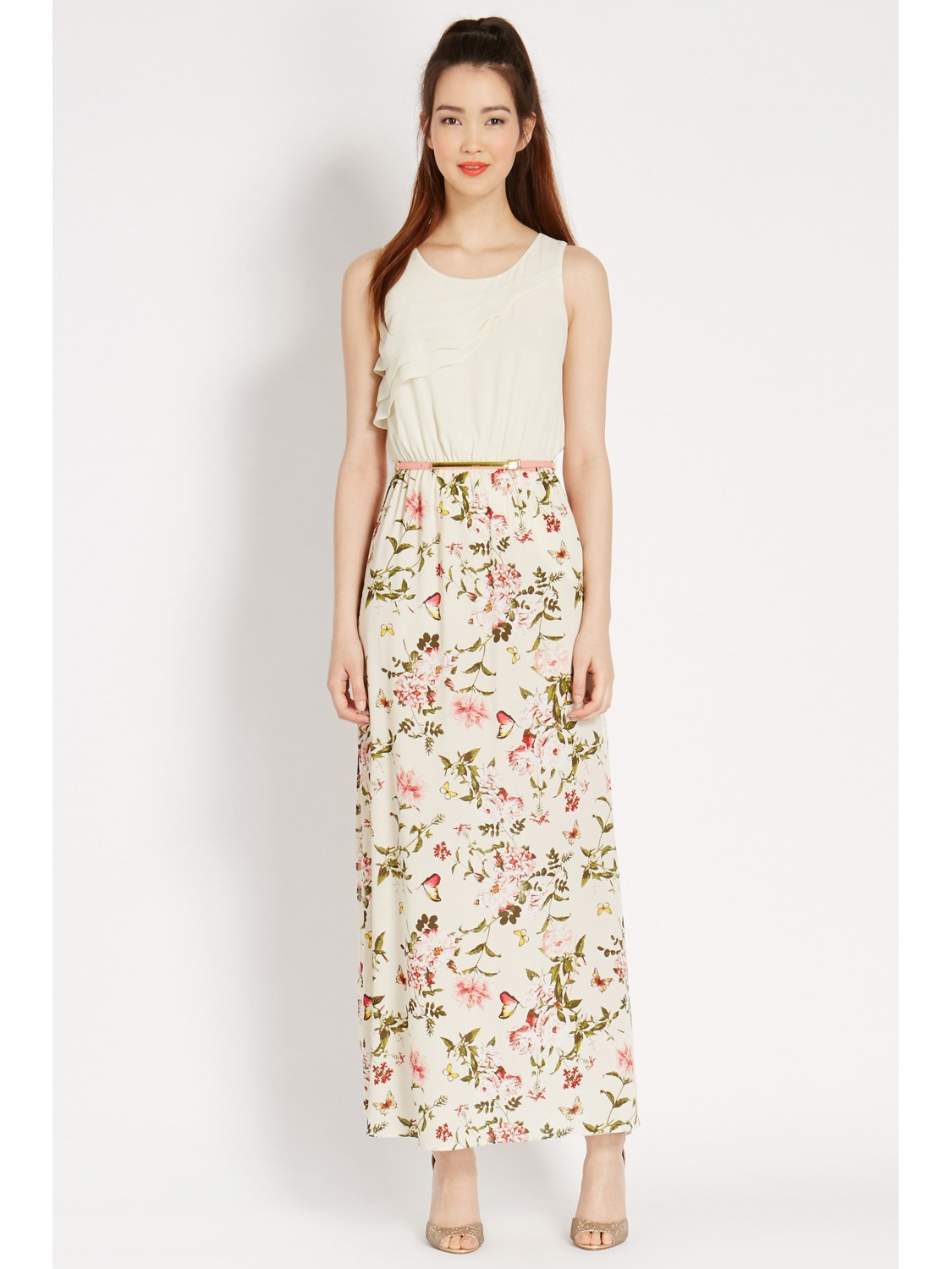 oasis floral 2 in 1 maxi dress