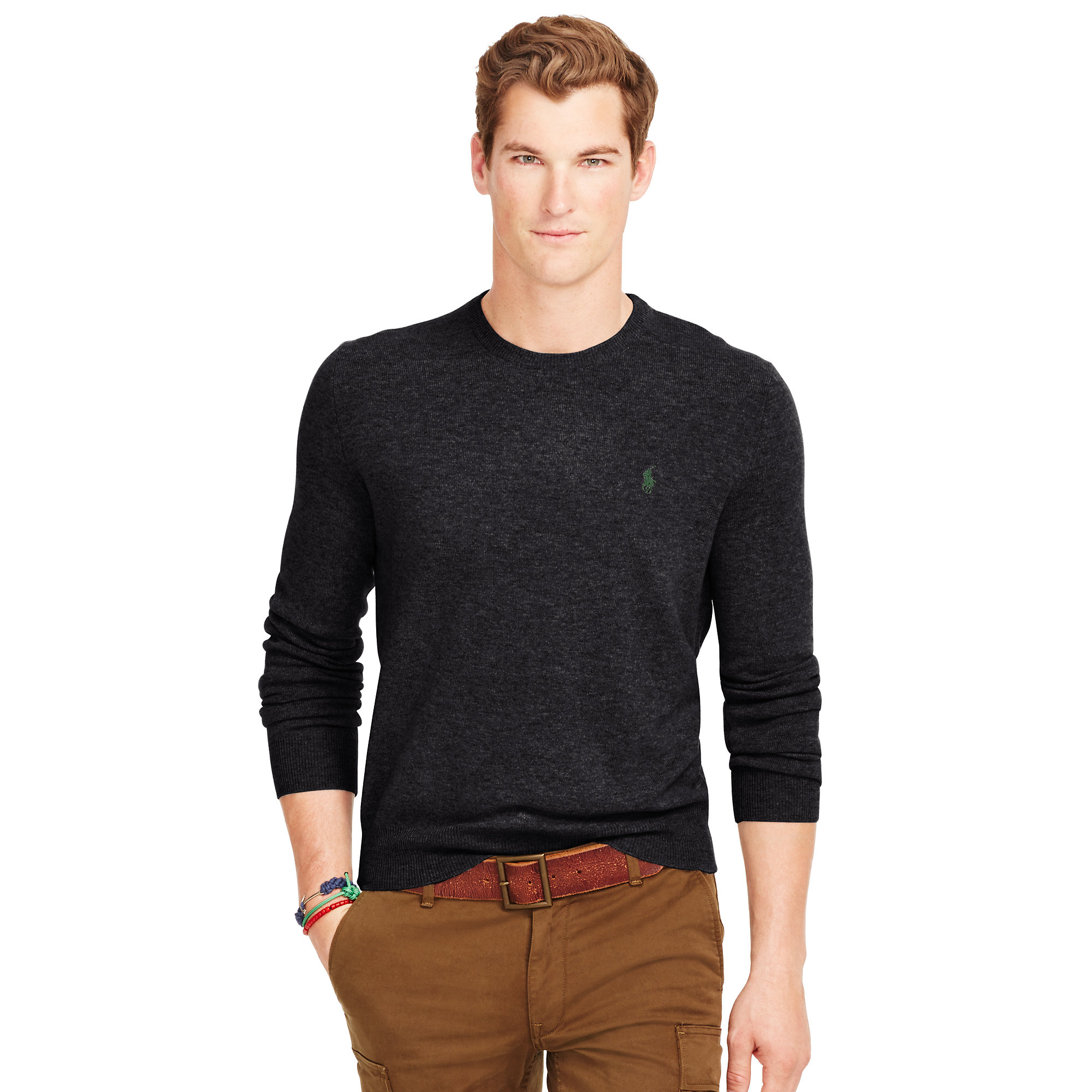 65938f2305d9d ... coupon for lyst polo ralph lauren wool crewneck sweater in black for men  b76b5 177b6