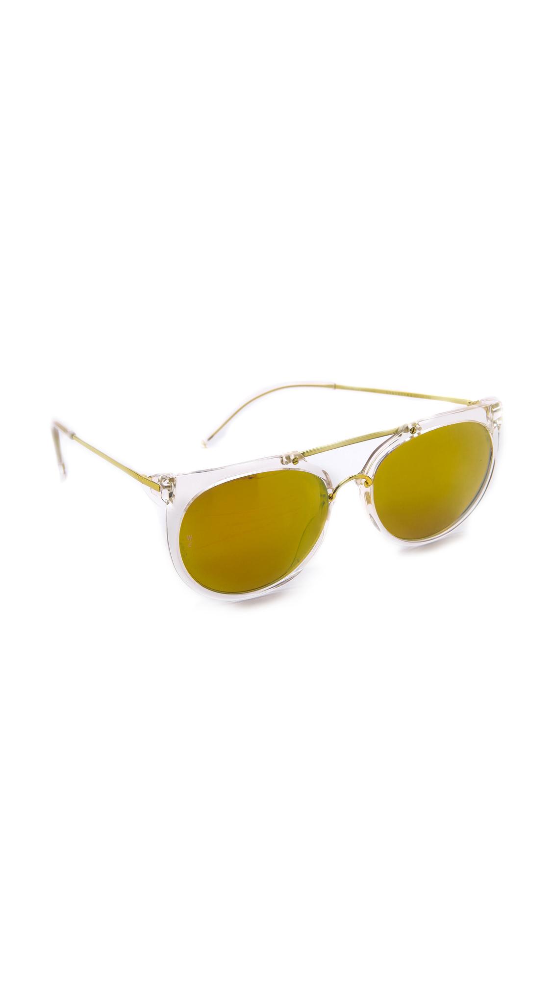 683d7539a3 Wonderland Stateline Sunglasses - Clear gold in Metallic - Lyst