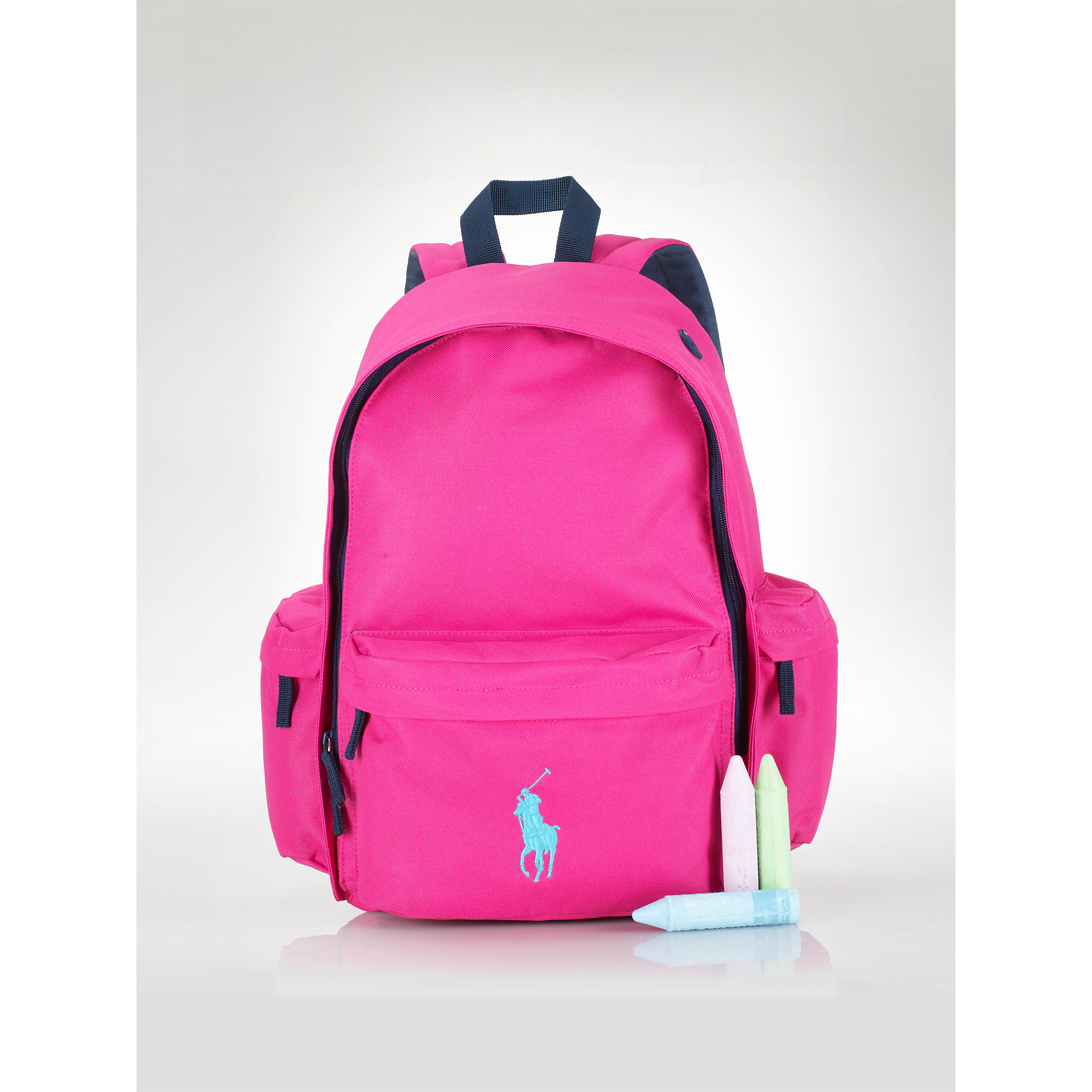 Ralph lauren Large Big Pony Backpack in Pink | Lyst