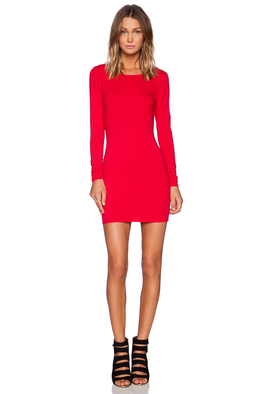 Lyst Bobi Spandex Low Back Mini Dress In Red
