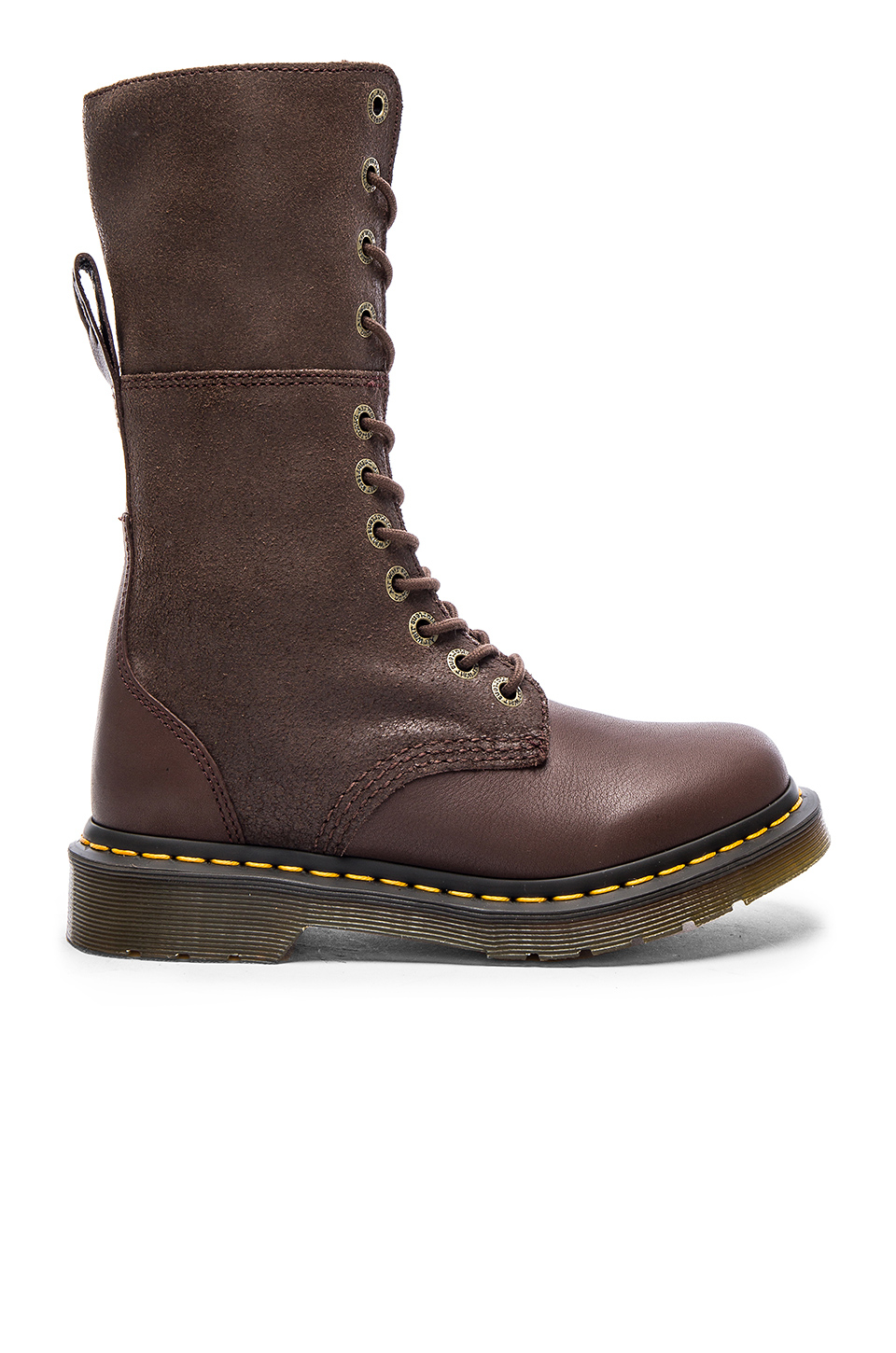 lyst dr martens hazil tall slouch boot in brown. Black Bedroom Furniture Sets. Home Design Ideas
