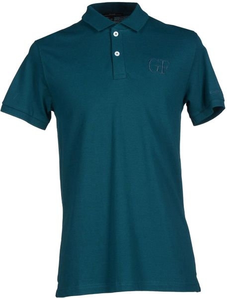 gianfranco ferr polo shirt in teal for men deep jade lyst