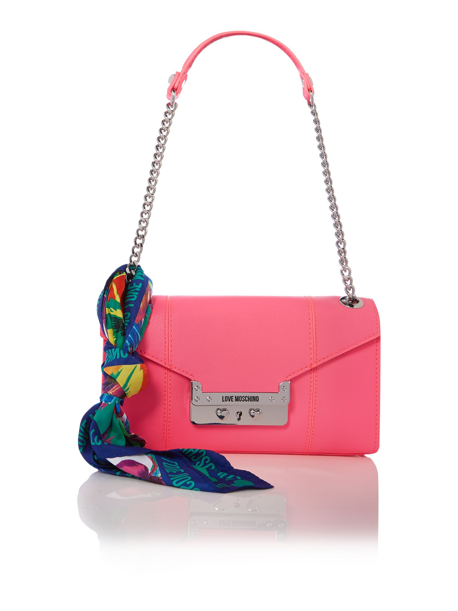Love Moschino Pink Small Flapover Shoulder Bag In Pink Lyst