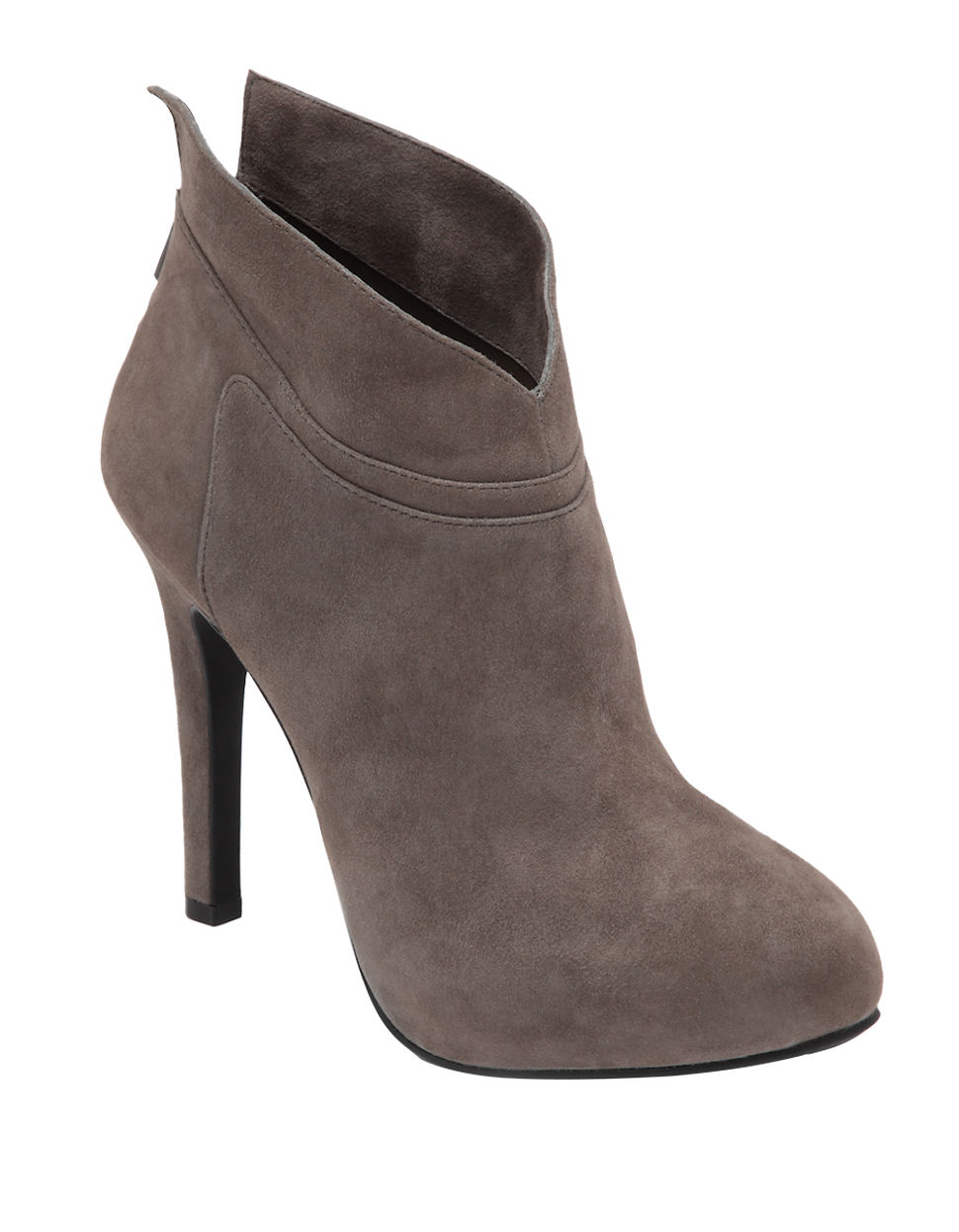 aggie leather high heel ankle boots in