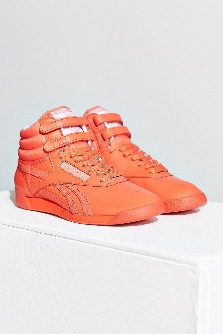 ba99541d49987 Lyst - Reebok Freestyle Hi Spirit Sneaker in Orange